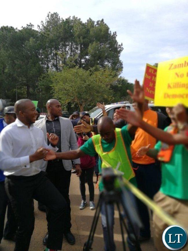 Mmusi Maimane arriving at the Zambian High Commission in Pretoria