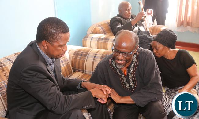 President Edgar Lungu with Bishop Mwansa Kapwepwe