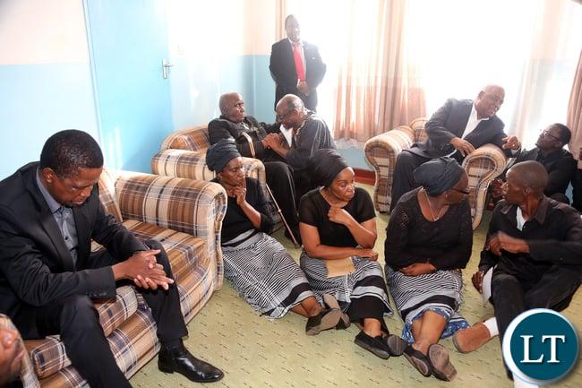 President Edgar Lungu with Kapwepwe Children