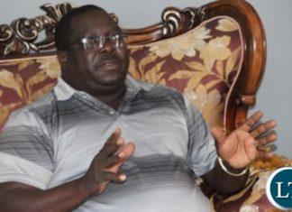 Chishimba Kambwili addressing Journalists at his house