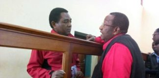 GBM talking to HH in court