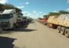 Namibian registered Trucks that were held in Zambia