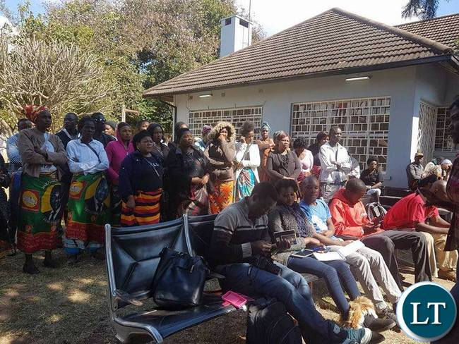 Some UPND women attending the news conference