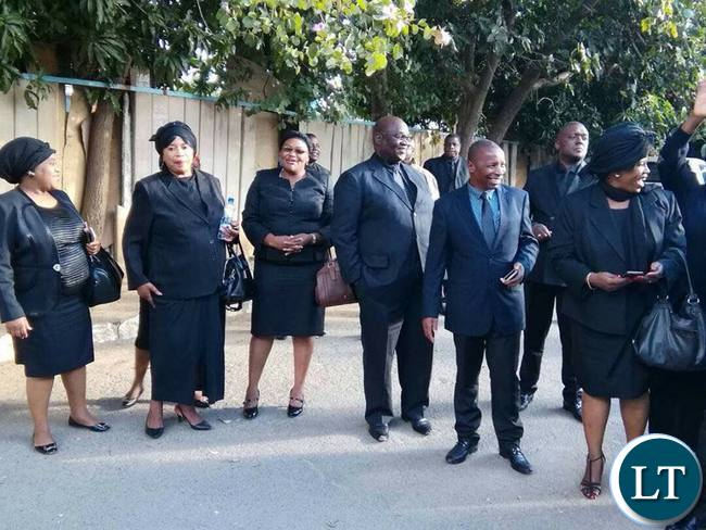 UPND MPs dressed in black in protest at HH's detention