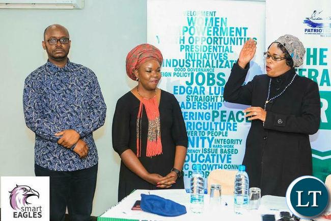 Miyanda Katiwa  being presented to the media  by PF