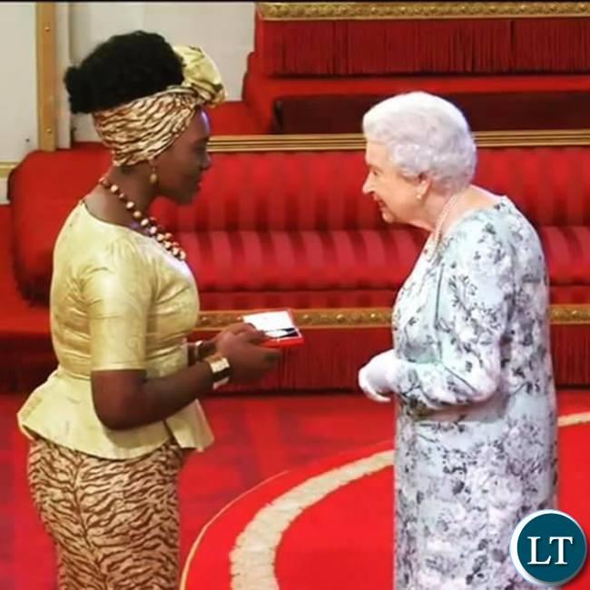 Natasha Salifyanji Kakoma chats with Queen Elizabeth II