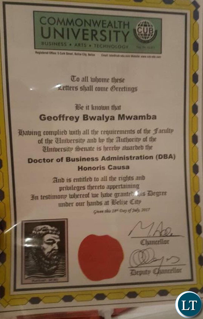 GBM's Degree certification in Business Adminitration