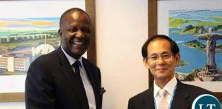 Felix Mutati with with the Senior Vice President of the Japanese International Cooperation Agency [JICA], Mr. KENICHI TOMIYOSHI