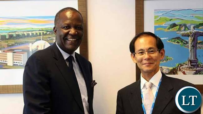 Felix Mutati with with the Senior Vice President of the Japanese International Cooperation Agency [JICA], Mr. KENICHI TOMIYOSHI