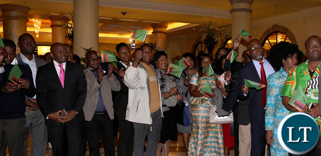 Zambian in South African Weclomes President Edgar Lungu at the Hotel
