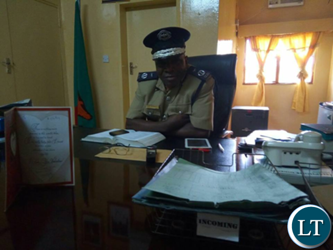 Southern Province police commissioner Bonny Kapeso