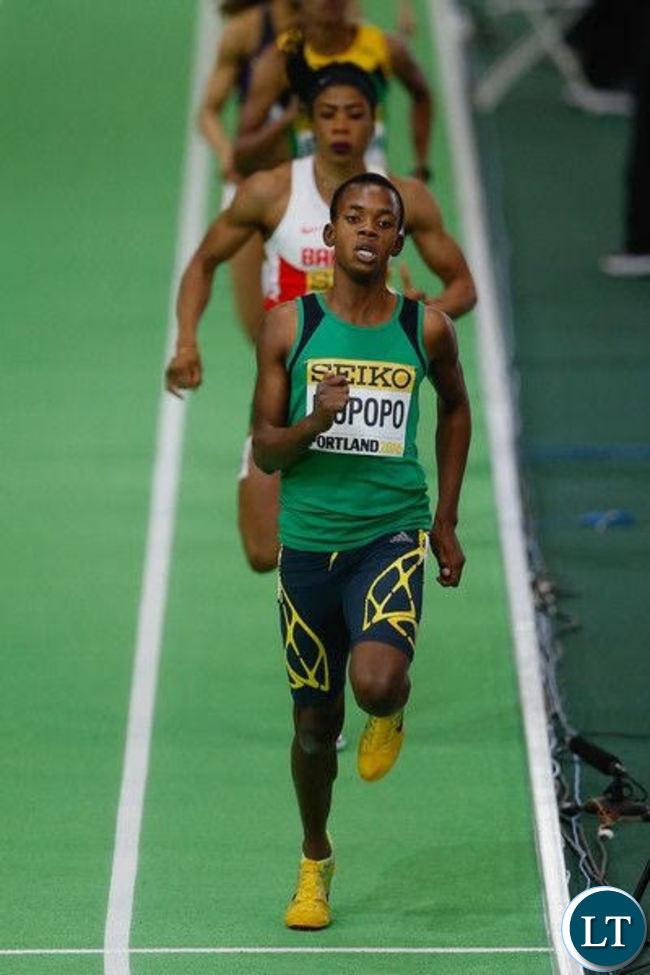Zambia's female sprinter Kabange Mupopo