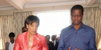 President Edgar Lungu meeting with Secretary-General Patricia Scotland at State house in Lusaka today- Pictures by Eddie Mwanaleza/State house 07-08-2017.