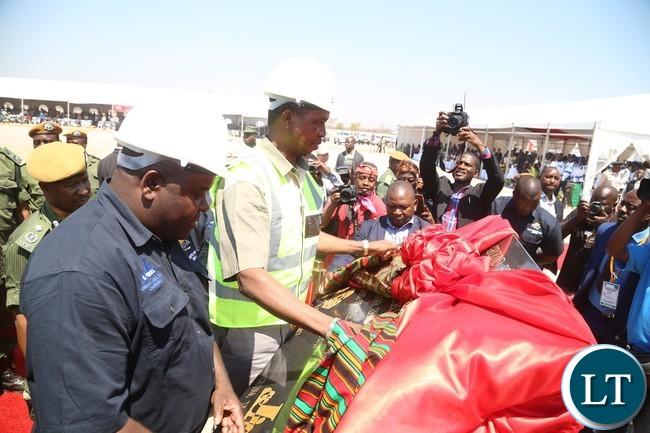 President Edgar Lungu commissions the construction works of the Lusaka-Ndola dual carriageway costing $1.2 Billion in chibombo