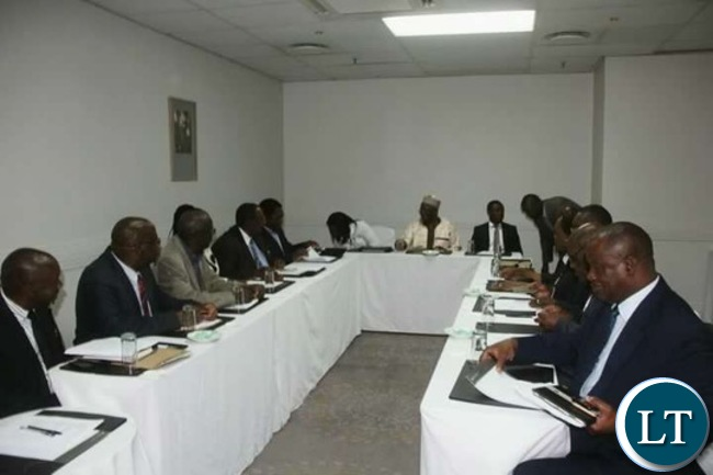 UPND Leadership at the meeting with Commonwealth Special Envoy Gambari