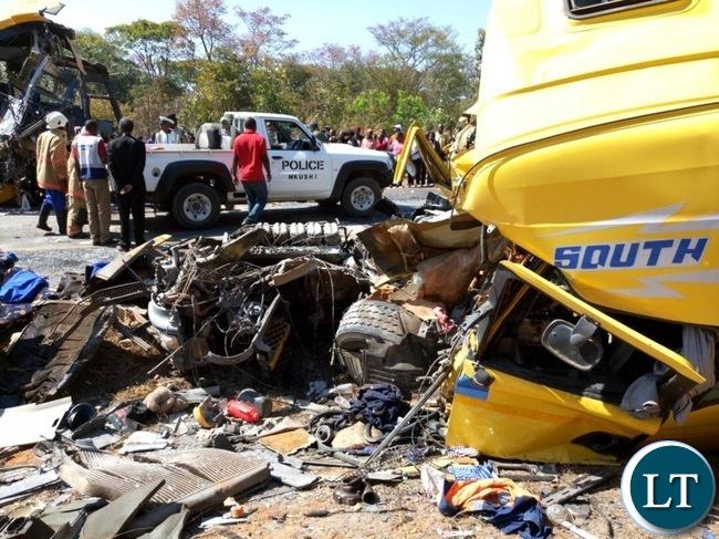 Accident Scene for Power Tools bus crash