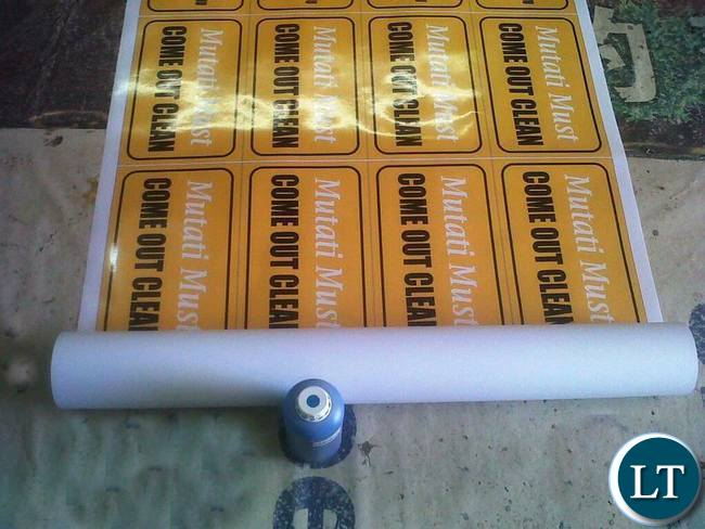 More anti Mutati materials being printed at some printing company in Lusaka
