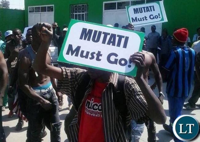 PF Eastern Province protesting against Mutati