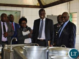 Minister of Finance Felix Mutati and the Speaker Of The National Assembly Dr. Patrick Matibini Touring Parliament Motel