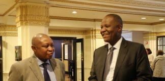 Finance Minister Felix Mutati with Caleb Fundanga in Wahshington