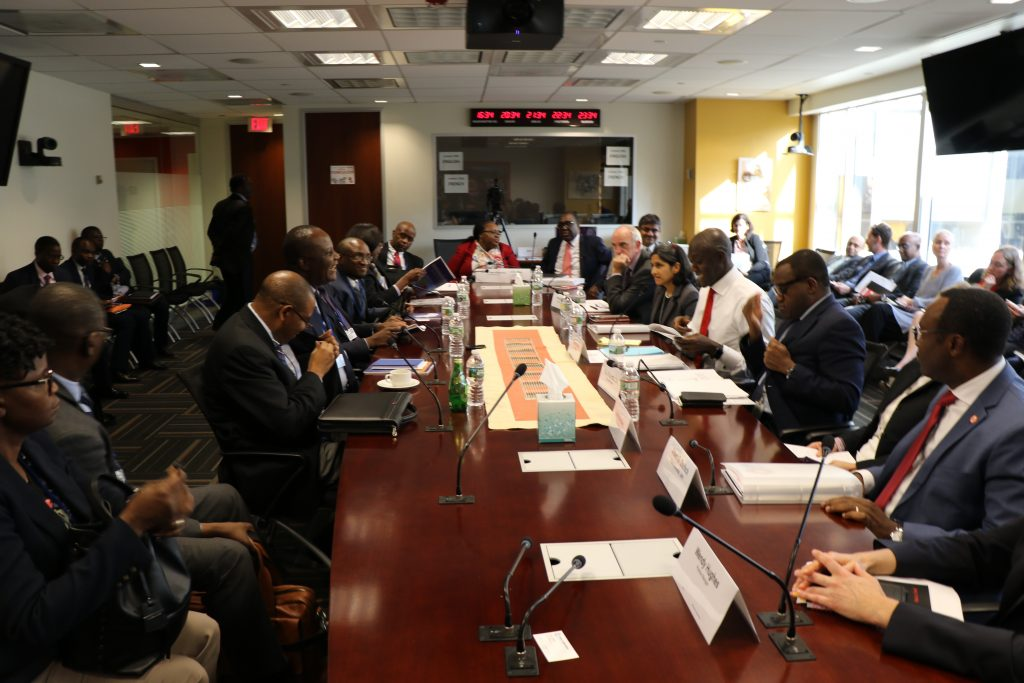 Zambian Delegation led by Finance Minister Felix Mutati at the IMF/World Bank meeting