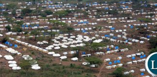 Congolese refugees at Kenani transit centre in the Nchelenge district Zambia