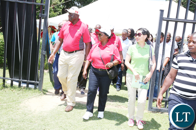 First Lady Esther Lungu during the Esther Lungu Foundation Trust Golf Tournament at State House on Saturday,October 14,2017-Picture by THOMAS NSAMA