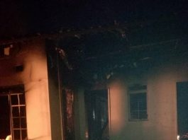 Burnt down Mufumbwe Police Station