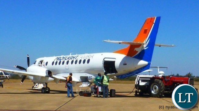 One Of Proflight Zambias Jetstream  Aircraft Being Loaded In Preparation For Flight