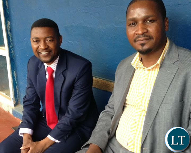 Keith Mweemba and Pep President Sean Tembo