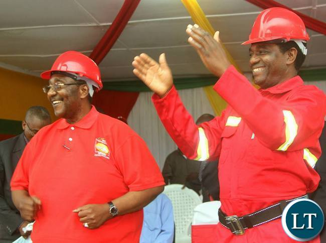 GBM and HH in a jovial mood at the card renewal exercise in Kitwe on Sunday
