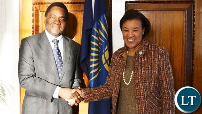 HH meets Commonwealth Secretary General Baroness Patricia Scotland