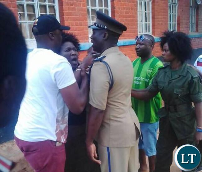 Mufulira Deputy Mayor roughs up a police officer in Mufulira