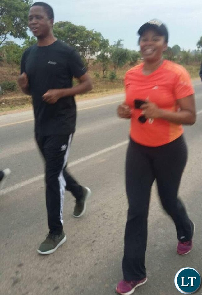 President Lungu on his morning Jog on his 61st Birthday