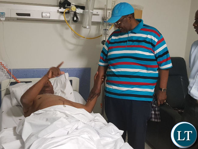 GBM visits Daniel Munkombwe at Milpark Hospital