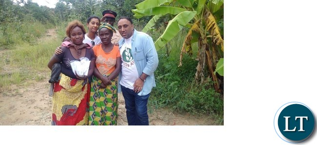 Humanity Africa Chief Executive Officer Bhupinder Singh Baidwan with some farmers in Mkushi.