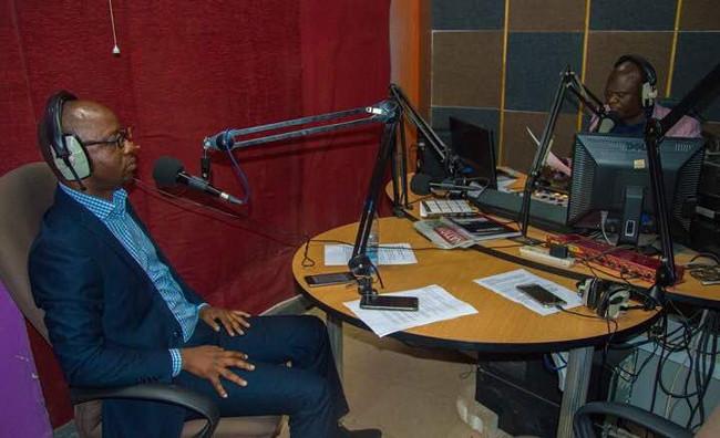Mr Kennedy Mambwe featuring on Consumer Feedback radio programme on Hot FM