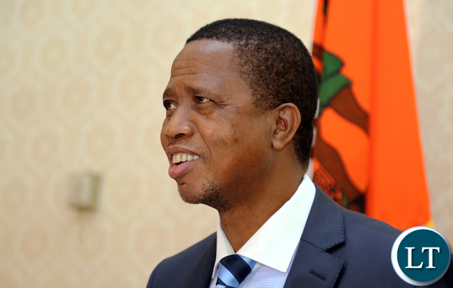 President Edgar Lungu before addressing the Nation on New Year's Eve.