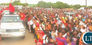 UPND President in Mongu for a Thanksgiving Rally