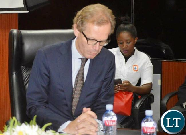 Swedish Ambassodor to Zambia, His Excellency Mr Henrik Cederin