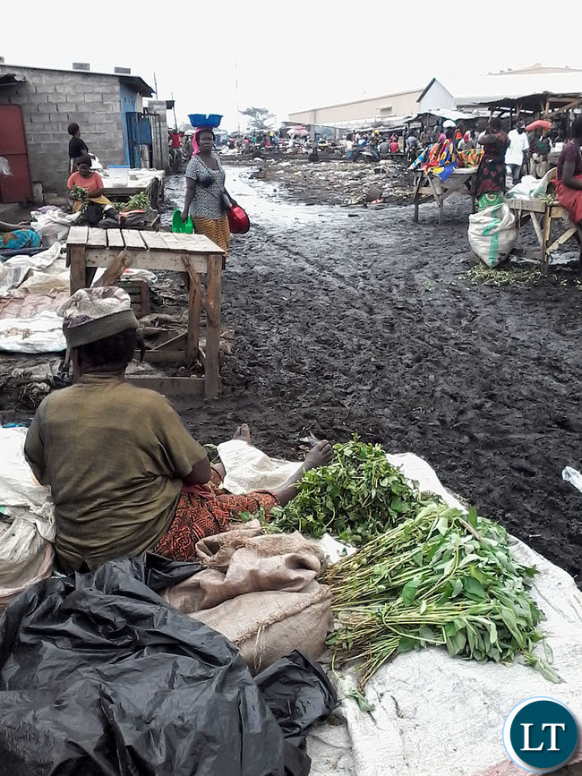 Dirty Trading Places with poor sanitation and drainage
