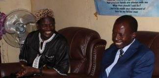 Senior Chief Nkula with Muchinga Province Permanent Secretary Jobbicks Kalumba