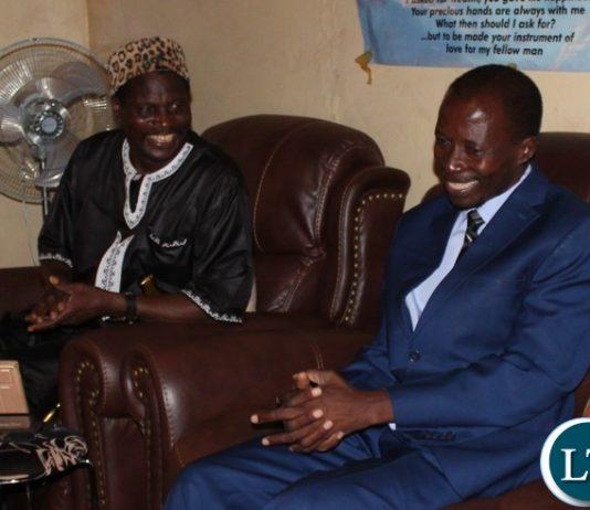 Senior Chief Nkula with Muchinga Province Permanent Secretary Jobbicks Kalumba