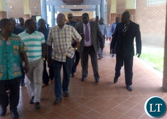 Kambwili at the Court today