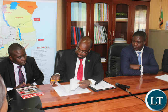 Transport and Communications Minister Brian Mushimba