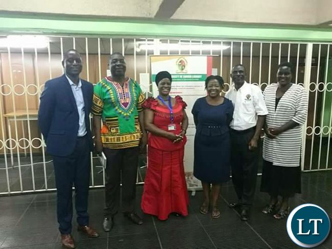 First Lady with faculty staff at UNZA