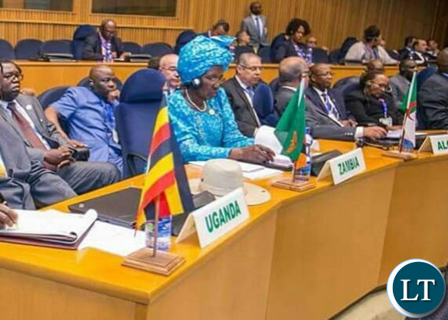 Vice President Inonge Wina at AU Summit