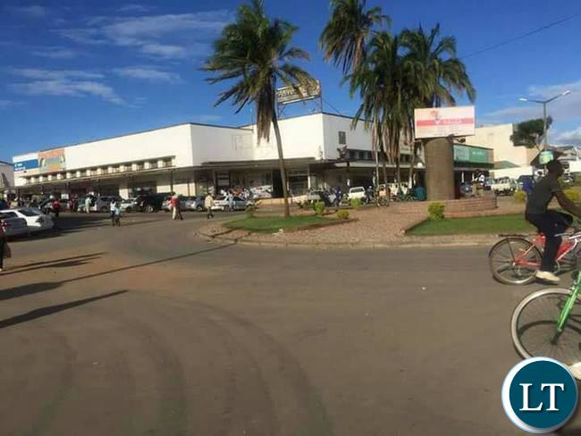 A glimpse of Kabwe Central Business District after day one of a vigorous cleaning exercise carried out by the council, the provincial leadership and assistance from state police.
