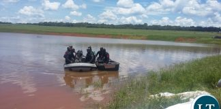 Commandos captured searching for the remaining body in the dam where the six pupils drowned. Picture by SUNDAY BWALYA/ZANIS