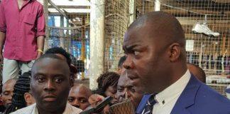 Lusaka Province Minister Bowman Lusambo on a familiarization tour of City Market Market and part of Lusaka CBD